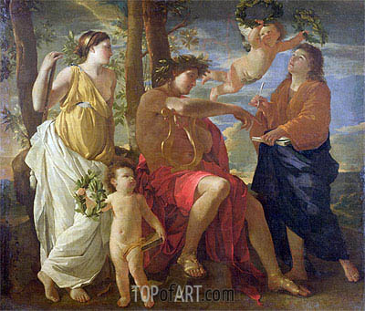 Inspiration of the Poet, c.1627/29 | Nicolas Poussin | Painting Reproduction