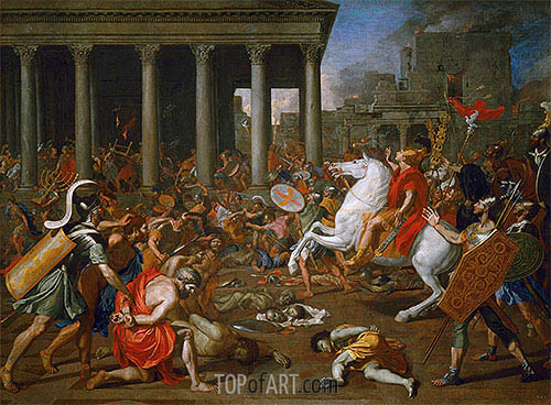 The Destruction of the Temples in Jerusalem by Titus, c.1638/39 | Nicolas Poussin | Painting Reproduction