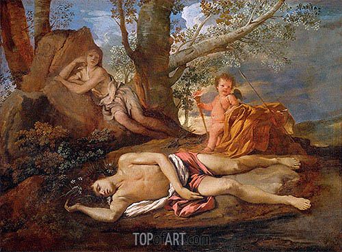Echo and Narcissus, c.1630   Nicolas Poussin   Painting Reproduction