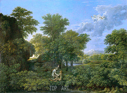 Spring (The Garden of Eden), c.1660/64 | Nicolas Poussin | Painting Reproduction