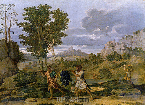Autumn (The Bunch of Grapes Taken from the Promised Land), c.1660/64   Nicolas Poussin   Painting Reproduction