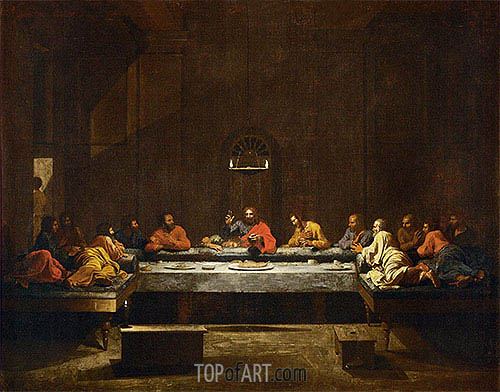 Holy Eucharist, c.1638/40 | Nicolas Poussin | Painting Reproduction