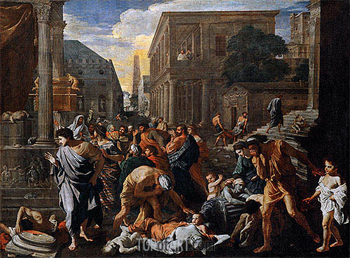 The Plague of Ashdod (The Philistines Struck by the Plague), c.1630/31 | Nicolas Poussin | Gemälde Reproduktion
