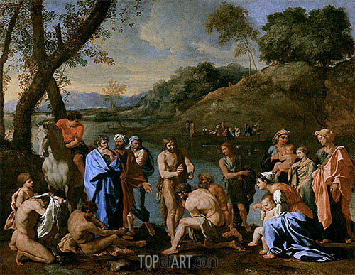 St. John Baptising the People, c.1636/37 | Nicolas Poussin | Painting Reproduction