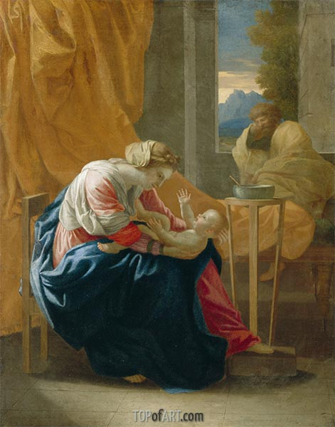 The Holy Family (The Roccatagliata Madonna), 1641 | Nicolas Poussin | Painting Reproduction