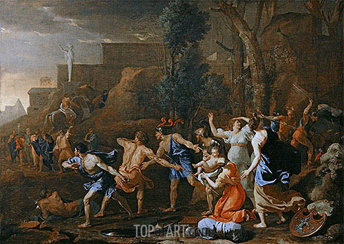 The Saving of the Infant Pyrrhus, 1634 | Nicolas Poussin | Painting Reproduction