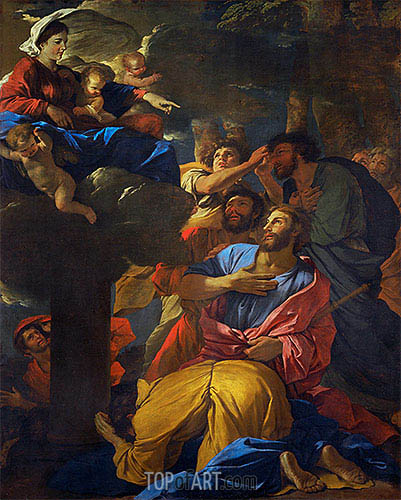 The Virgin Appears to Saint James the Elder, c.1629/30 | Nicolas Poussin | Gemälde Reproduktion
