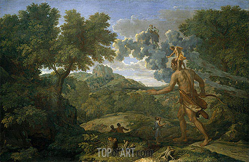 Blind Orion Searching for the Rising Sun, 1658 | Nicolas Poussin | Gemälde Reproduktion