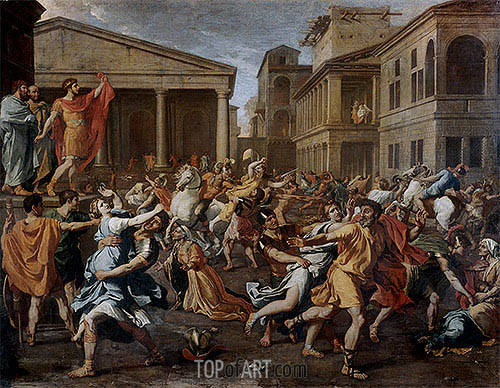Rape of the Sabine Women, c.1637/38 | Nicolas Poussin | Painting Reproduction