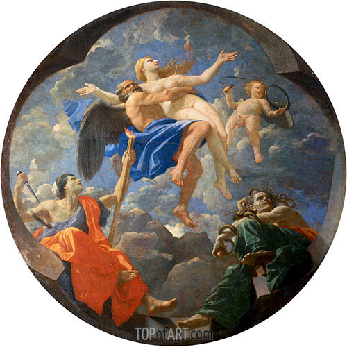 Truth Stolen Away by Time Beyond the Reach of Envy and Discord, 1641 | Nicolas Poussin | Gemälde Reproduktion