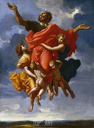 Ecstasy of Saint Paul, 1643 | Nicolas Poussin | Painting Reproduction
