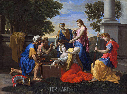 Discovery of Achilles on Skyros, c.1649/50 | Nicolas Poussin | Gemälde Reproduktion
