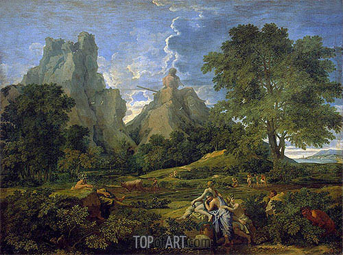 Landscape with Polyphemus, 1649 | Nicolas Poussin | Painting Reproduction