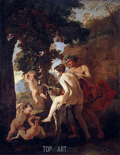 Venus, Faun and Putti, c.1630/33 | Nicolas Poussin | Painting Reproduction