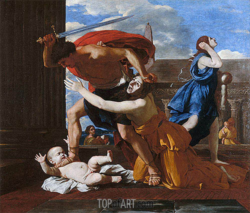The Massacre of the Innocents, c.1625/26 | Nicolas Poussin | Gemälde Reproduktion
