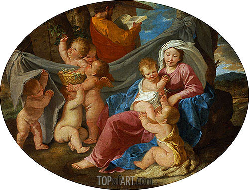 The Rest on the Flight into Egypt, c.1628/30 | Nicolas Poussin | Painting Reproduction
