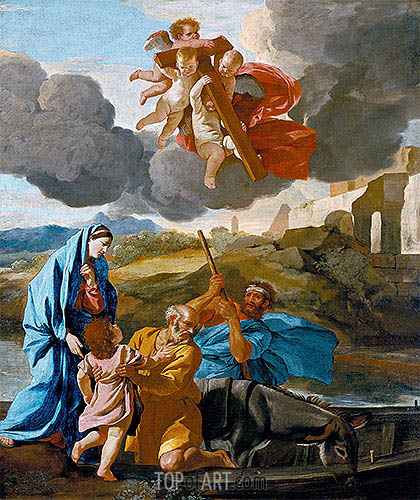 The Return of the Holy Family from Egypt, c.1628/38 | Nicolas Poussin | Painting Reproduction