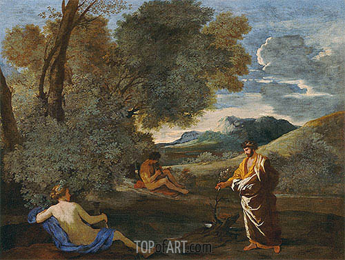 Numa Pompilius and the Nymph Egeria, c.1631/33 | Nicolas Poussin | Gemälde Reproduktion