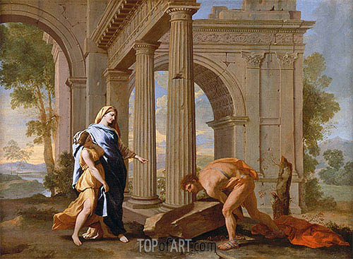 Theseus Finds the Sword of His Father, c.1638 | Nicolas Poussin | Gemälde Reproduktion