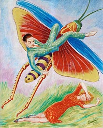 The Grasshopper, 1931 by Nils von Dardel | Painting Reproduction