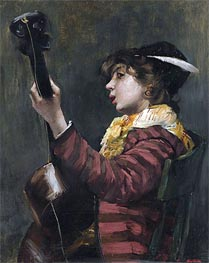 The Guitarist, Undated by Norbert Goeneutte | Painting Reproduction