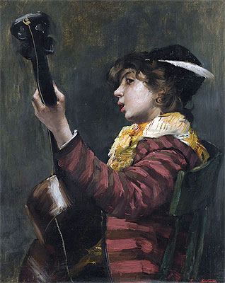 The Guitarist, Undated | Norbert Goeneutte | Painting Reproduction