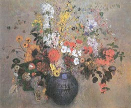 Flowers, 1909 by Odilon Redon | Painting Reproduction