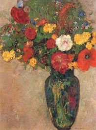 Vase of Flowers, c.1910 by Odilon Redon | Painting Reproduction