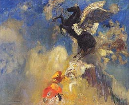 The Black Pegasus, c.1909/10 by Odilon Redon | Painting Reproduction