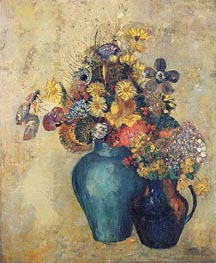 Flowers, c.1905 by Odilon Redon | Painting Reproduction