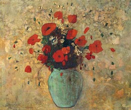 Vase of Poppies, c.1905/09 by Odilon Redon | Painting Reproduction