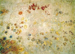 Panel with Flowers, c.1902 von Odilon Redon | Gemälde-Reproduktion