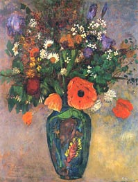 Bouquet of Flowers in a Vase, Undated von Odilon Redon | Gemälde-Reproduktion