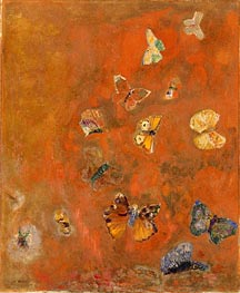 Evocation of Butterflies | Odilon Redon | Gemälde Reproduktion