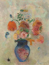 Large Vase with Flowers | Odilon Redon | Painting Reproduction