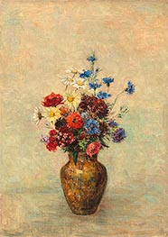 Flowers in a Vase | Odilon Redon | Painting Reproduction