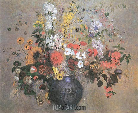 Flowers, 1909 | Odilon Redon | Painting Reproduction