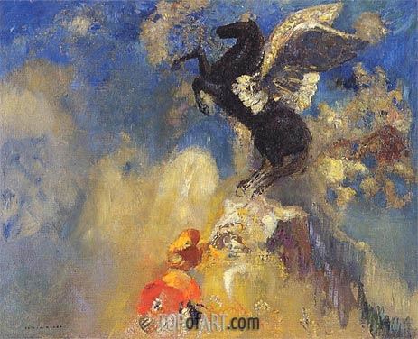 The Black Pegasus, c.1909/10 | Odilon Redon | Gemälde Reproduktion