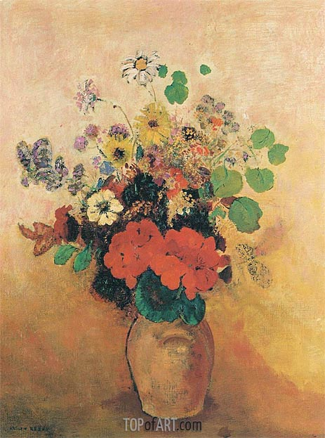 Vase of Flowers, c.1908/10 | Odilon Redon | Painting Reproduction