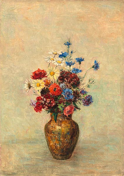 Flowers in a Vase, c.1910 | Odilon Redon | Painting Reproduction