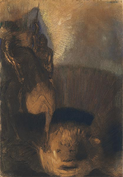 Saint George and the Dragon, c.1892 | Odilon Redon | Painting Reproduction
