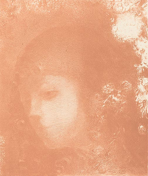 Head of a Child with Flowers, 1897 | Odilon Redon | Painting Reproduction