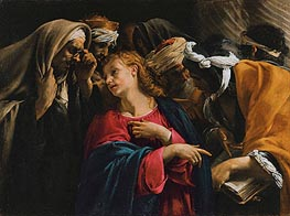 Christ Amongst the Doctors, undated by Orazio Borgianni | Painting Reproduction