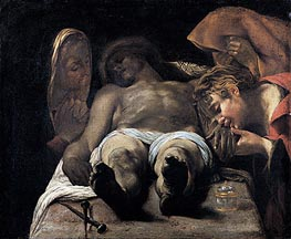 Lamentation over the Dead Christ (The Pieta), c.1615 by Orazio Borgianni | Painting Reproduction
