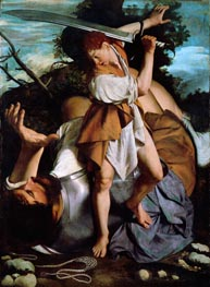 David and Goliath, c.1605/07 by Orazio Gentileschi | Painting Reproduction