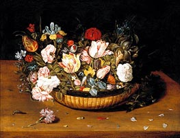Basket of Flowers, c.1615 von Osias Beert | Gemälde-Reproduktion