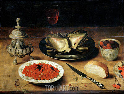 Still Life with an Artichoke, undated | Osias Beert | Painting Reproduction