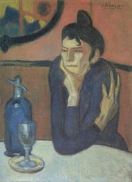 The Absinthe Drinker, 1901 by Picasso | Painting Reproduction