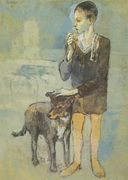 Boy with a Dog, 1905 von Picasso | Gemälde-Reproduktion