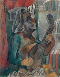 Woman with a Mandolin, 1909 von Picasso | Gemälde-Reproduktion